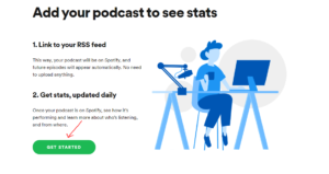 étape 1 spotify podcast